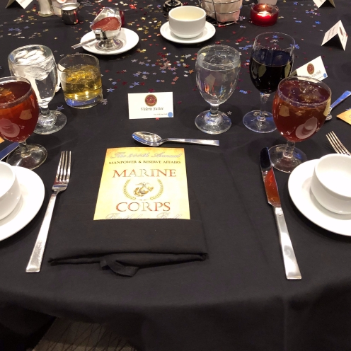View of place setting from my seat.